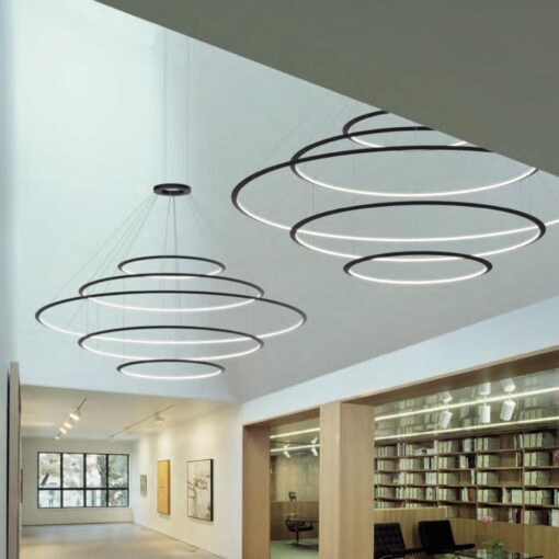 Inwards LED Rings Pendant Chandelier