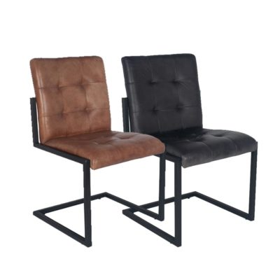 Iron Framed Leather Chair