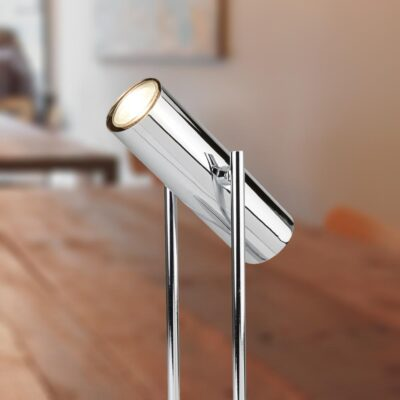 LED Chrome Cylinder Table Spotlight