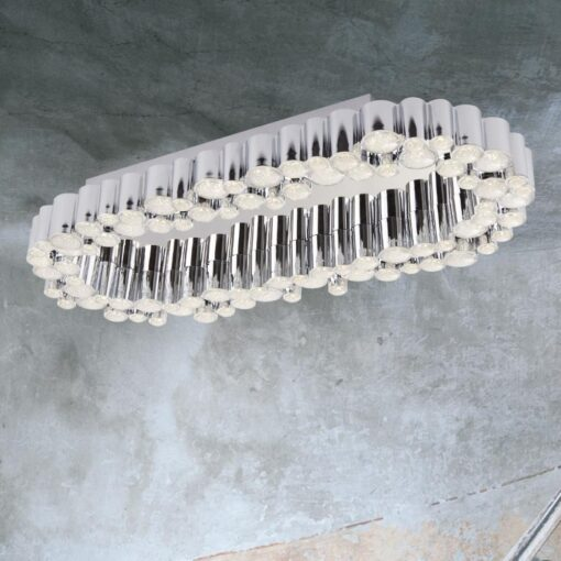 LED Chrome Oval Tubes Flush
