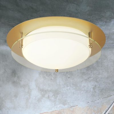 LED Gold Round Glass Flush