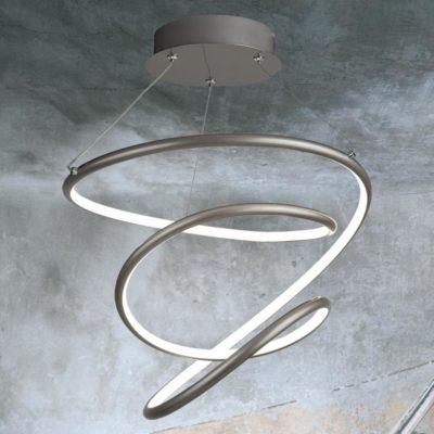 LED Hoop Spiral Pendant Light