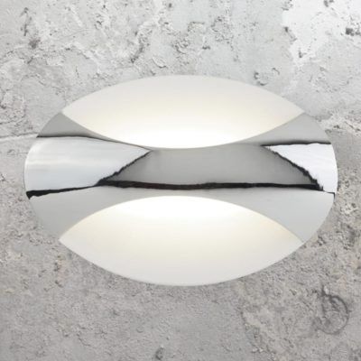 LED Oval Chrome Wall Light