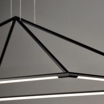 LED Suspended Pyramid Pendant Light Output