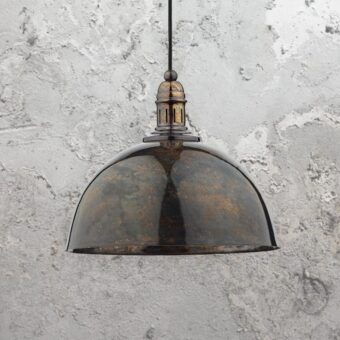 Lacquered Aged Bronze Pendant Light