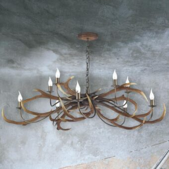 Large 10 Light Antler Chandelier