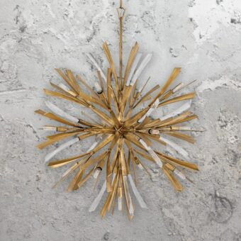 Large 13 Light Gold Burst Pendant Light