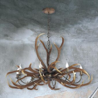 Large 8 Light Antler Chandelier