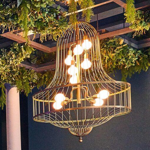 Large Birdcage Chandelier Feature Light