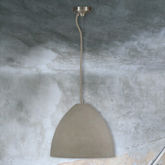 Large Concrete Dome Pendant Light