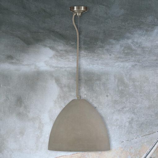 Large Concrete Dome Pendant Light