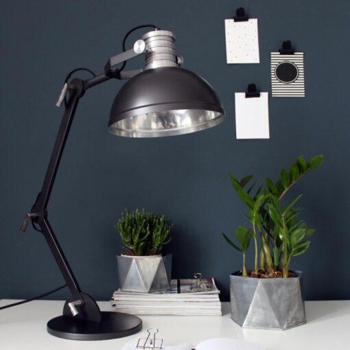 Large Black Industrial Desk Lamp