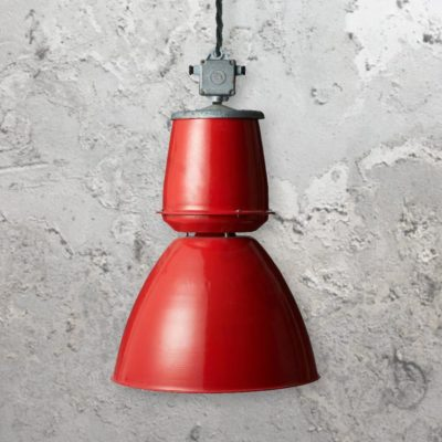 Large Red Pendant Light,Reclaimed Red Pendant Light,industrial red factory pendant shade