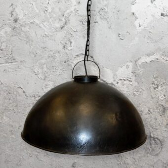 Large Rustic Black Pendant Light