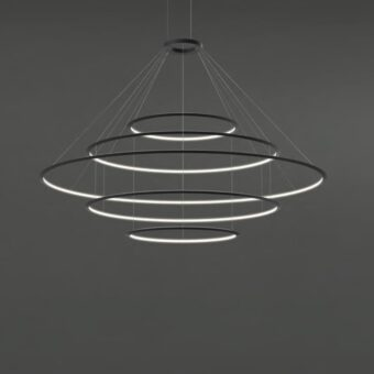 Large Suspended Inwards LED Ring Feature