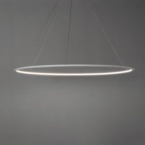 Large Suspended Inwards LED Ring Pendant