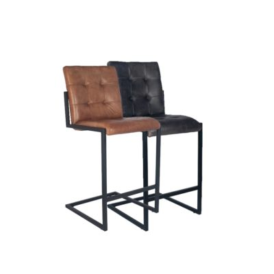 Leather Iron Bar Stool