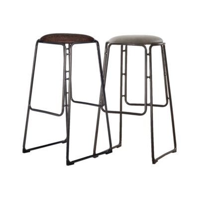 Leather Rustic Bar Stool