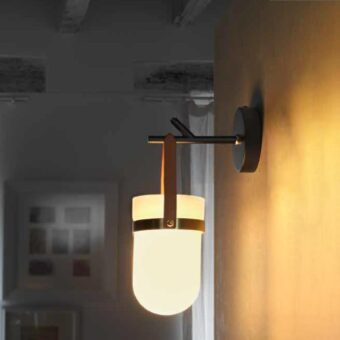 Leather Strap Wall Light