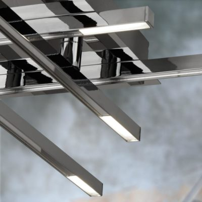 Linear 8 Light LED Frosted Flush
