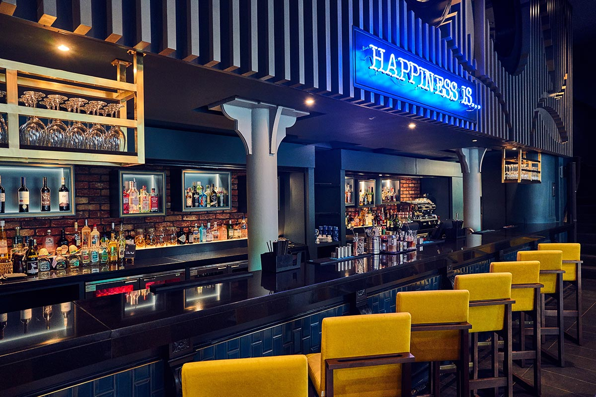 Malmaison Chez Mal Bar, Belfast Bar Lighting