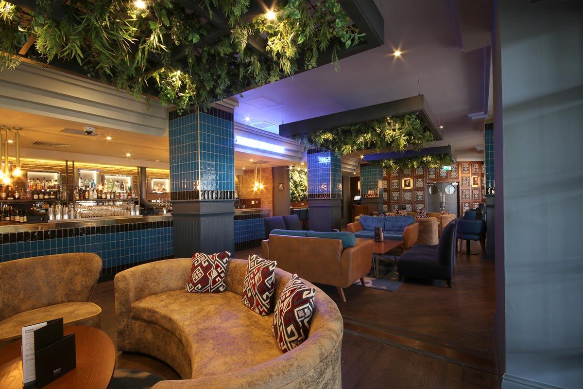 Malmaison, Newcastle Upon Tyne Bar Lighting