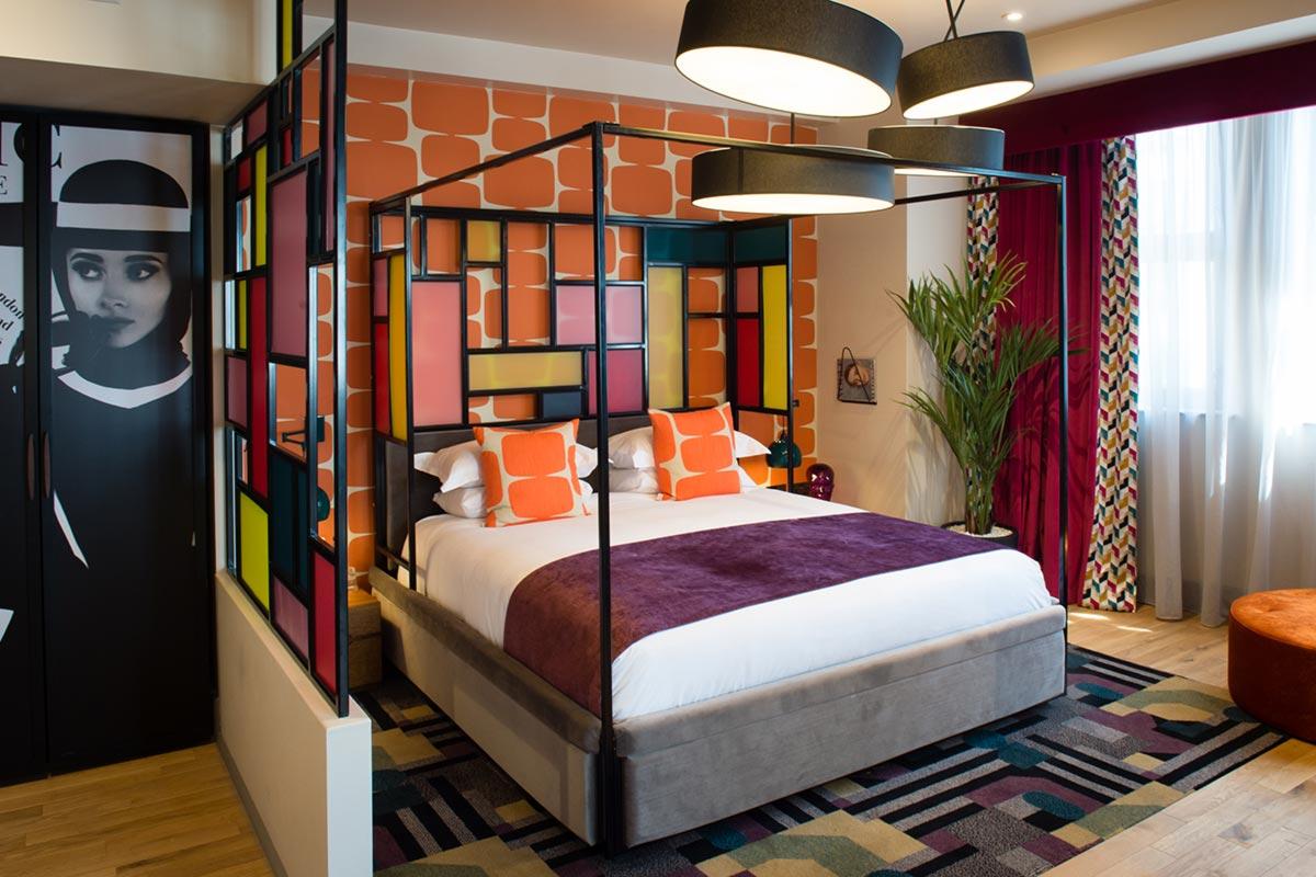 Malmaison Suites, Manchester Swinging Vogue Suite Lighting