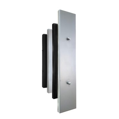 Matt Black Chrome Art Deco Panel Wall Light