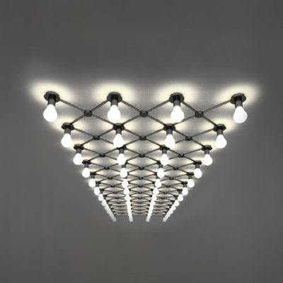 Matt Black Conduit Ceiling Lighting