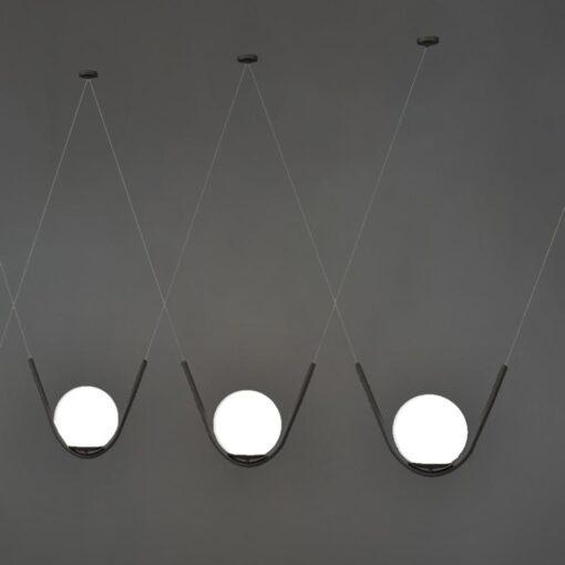 Matt Black Globe Pendant Feature Lights