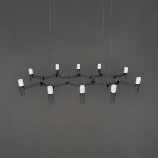 Matt Black Honeycomb Chandelier