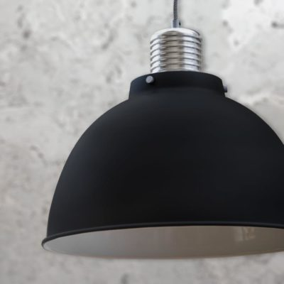 Matt Black Industrial Pendant Light