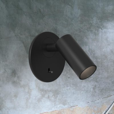 Matt Black Recessed Bedside LED Reading Lamp