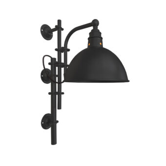Matt Black Steampunk Wall Light