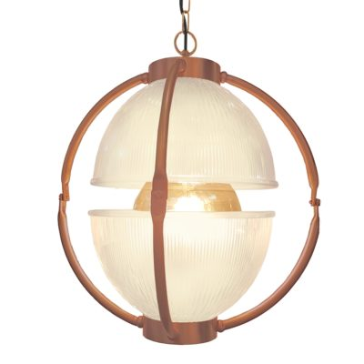 Matt Copper Glass Orb Pendant Light,Frosted Glass Orb Pendant Light