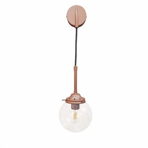 Matt Copper Hanging Globe Wall Light