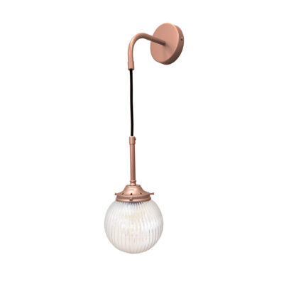 Matt Copper Prismatic Hanging Globe Wall Light