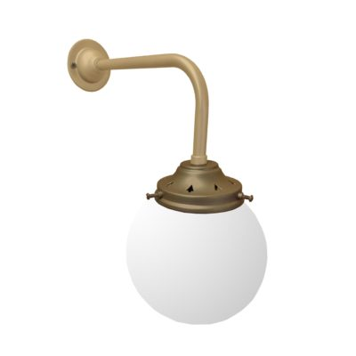 Matt Gold & Bronze Opal Globe Wall Light