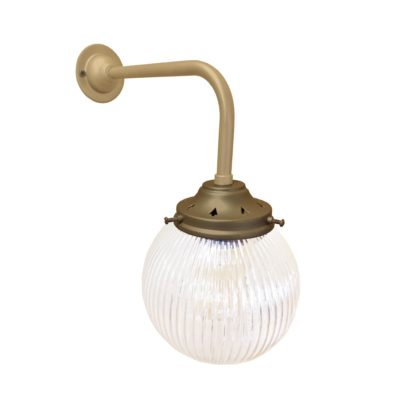 Matt Gold & Bronze Prismatic Globe Wall Light