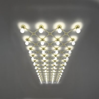 Matt Gold Conduit Ceiling Lighting