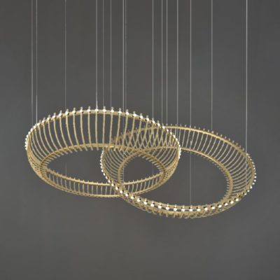 Matt Gold Double Ring Feature Light