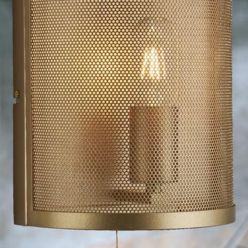 Matt Gold Mesh Wall Light