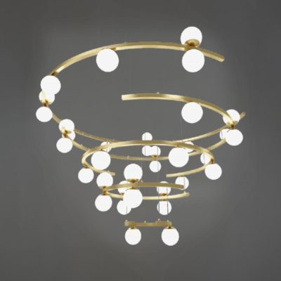 Matt Gold Tiered Spiral Chandelier