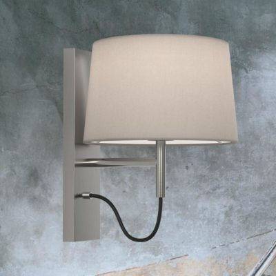 Matt Nickel Modern Bedside Wall Lamp