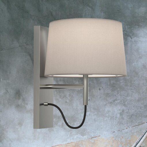 Matt Nickel Modern Bedside Wall Lamp