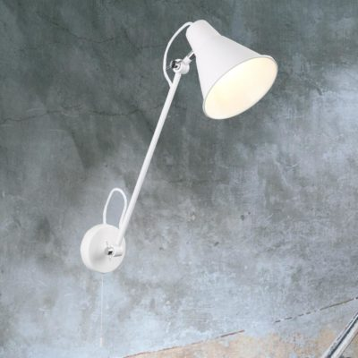 Matt White Adjustable Wall Light