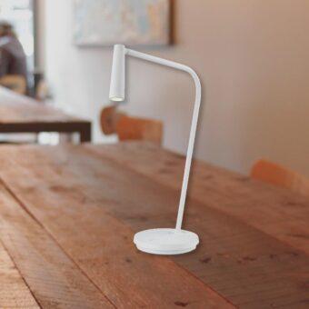 Matt White Bedside LED Task Lamp