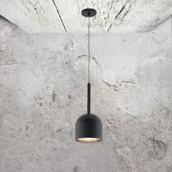 minimal small modern matte black pendant light fitting