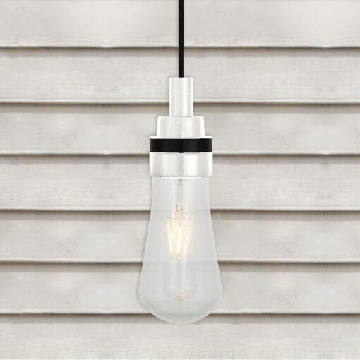 Matte White Minimal Outdoor Pendant Light