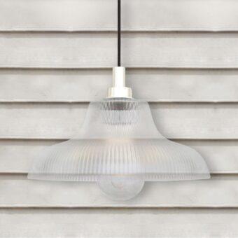 Matte White Outdoor Prismatic Pendant Light